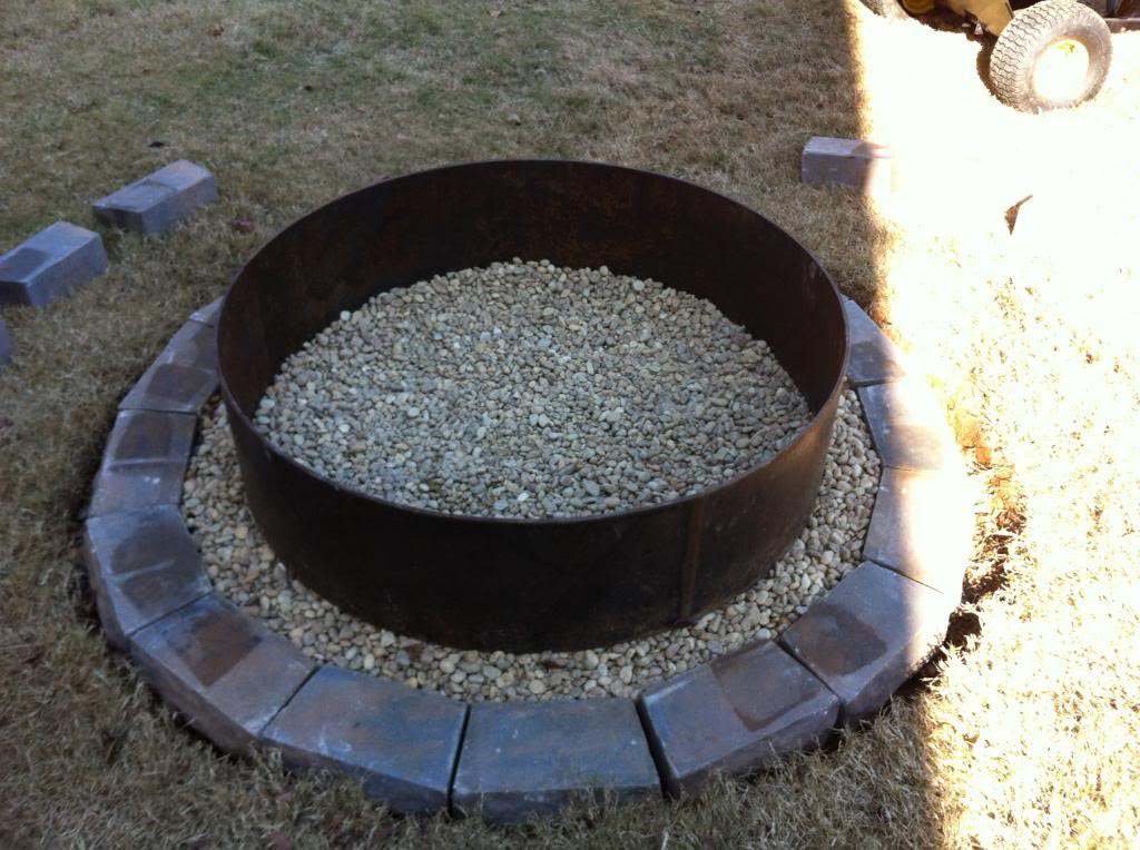 30 In Galvanized Round Fire Pit Ring Fire Pit Design Ideas