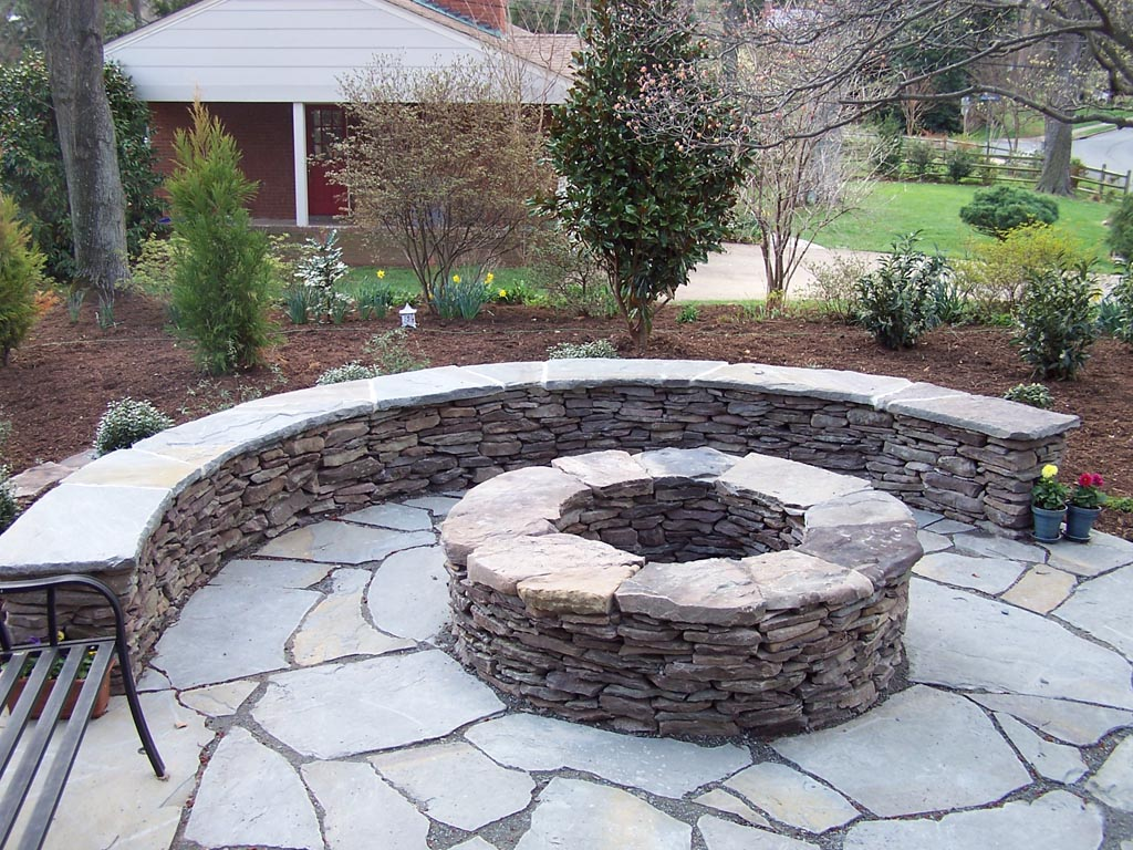 Backyard Fire Pit Plans : Modest Backyard Fire Pit Ideas In Garden Design Backyard Fire Pits