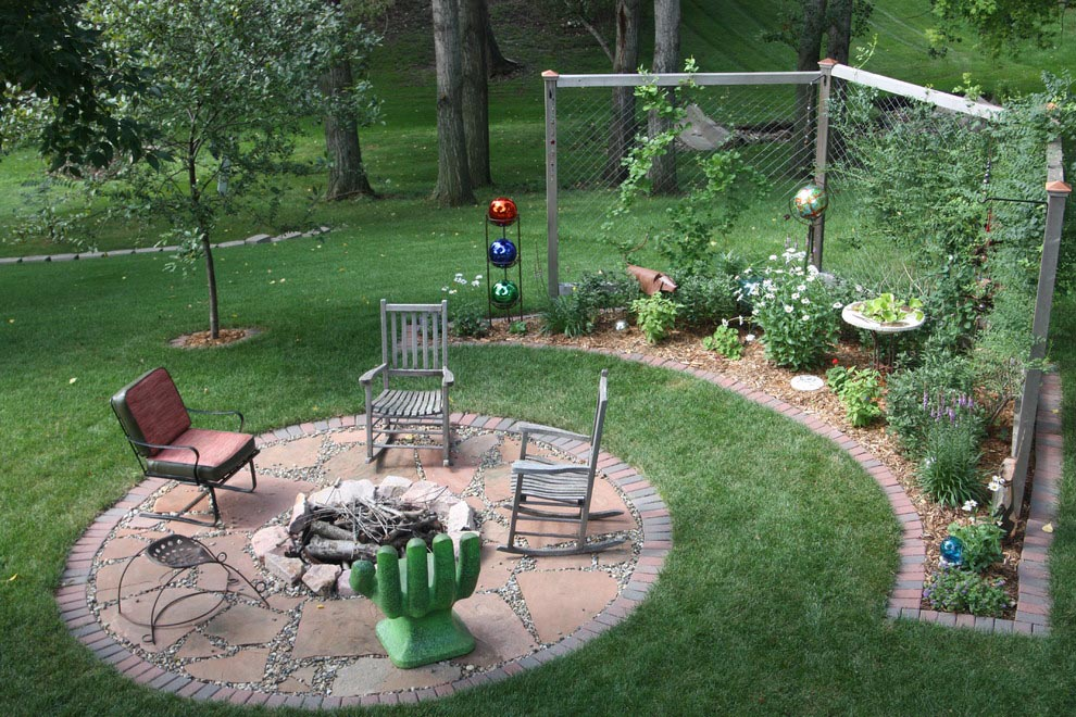 Fire Pit Design Ideas fire pit design ideas a jamie durie original design the gabion fire feature adds Simple Backyard Fire Pit Ideas This Would Be Great For The Backyard Firepit In 4 Easy