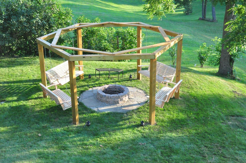 Bench swing fire pit fire pit design ideas Fire pit benches