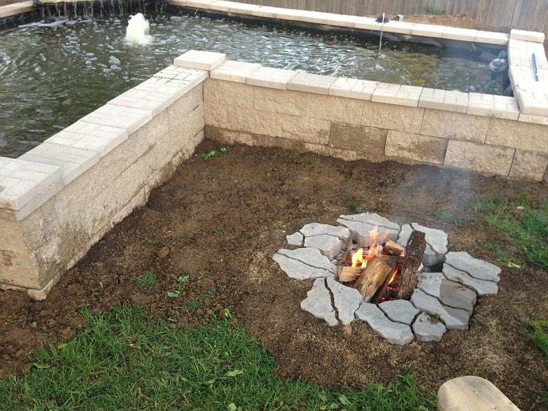 Building Inground Fire Pit