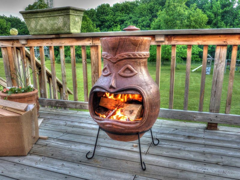 Clay Chimney Fire Pit