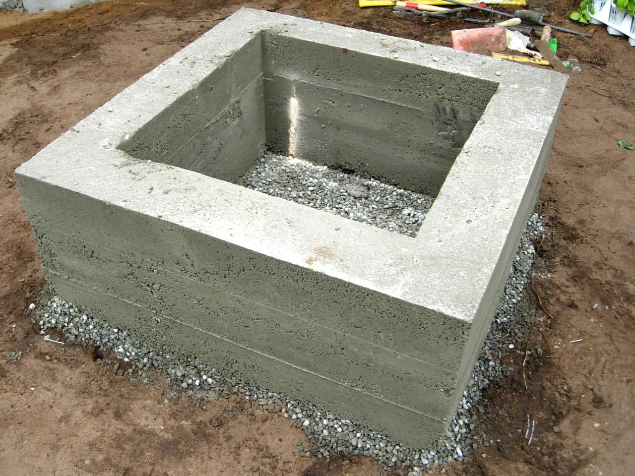easy way to make a concrete fire pit fire pit design ideas