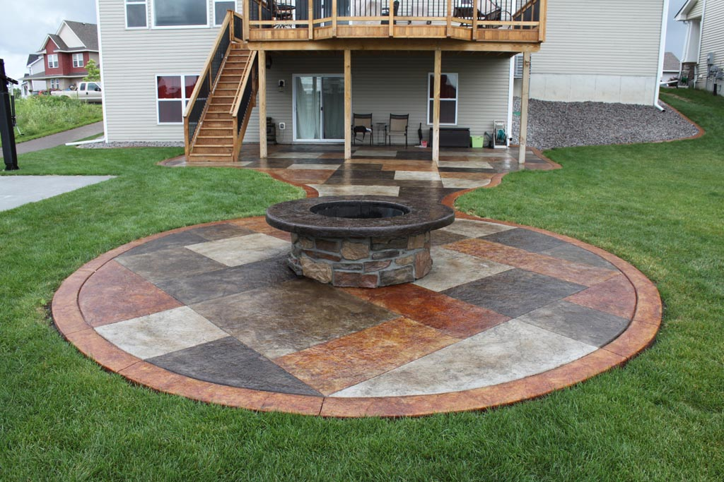 concrete patio fire pit fire pit design ideas
