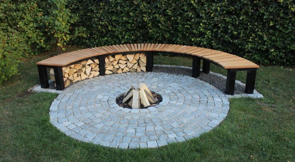 Curved Fire Pit Bench Fire Pit Design Ideas