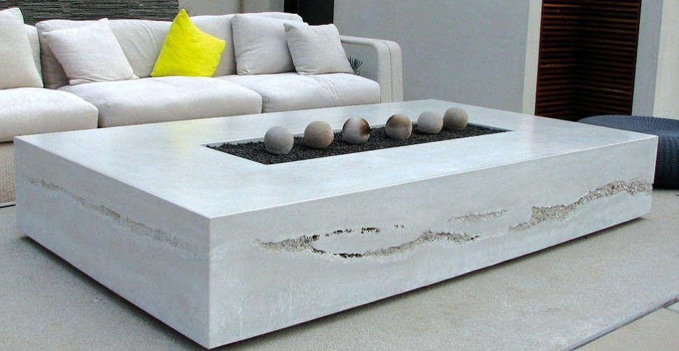 concrete bowl gas fire pit block diy table