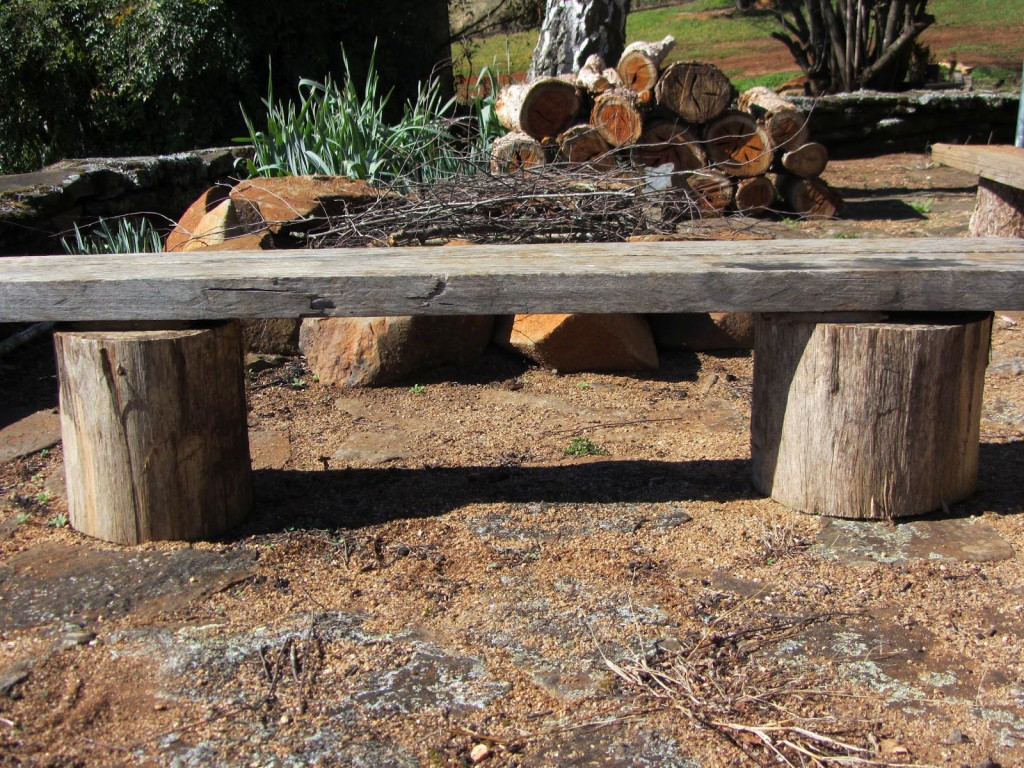 DIY Fire Pit Bench
