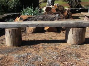 DIY Fire Pit Bench