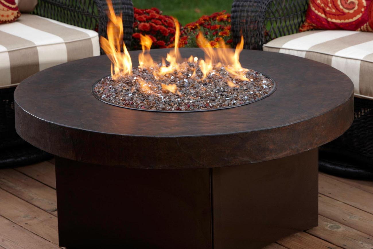 DIY Gas Fire Pit Glass