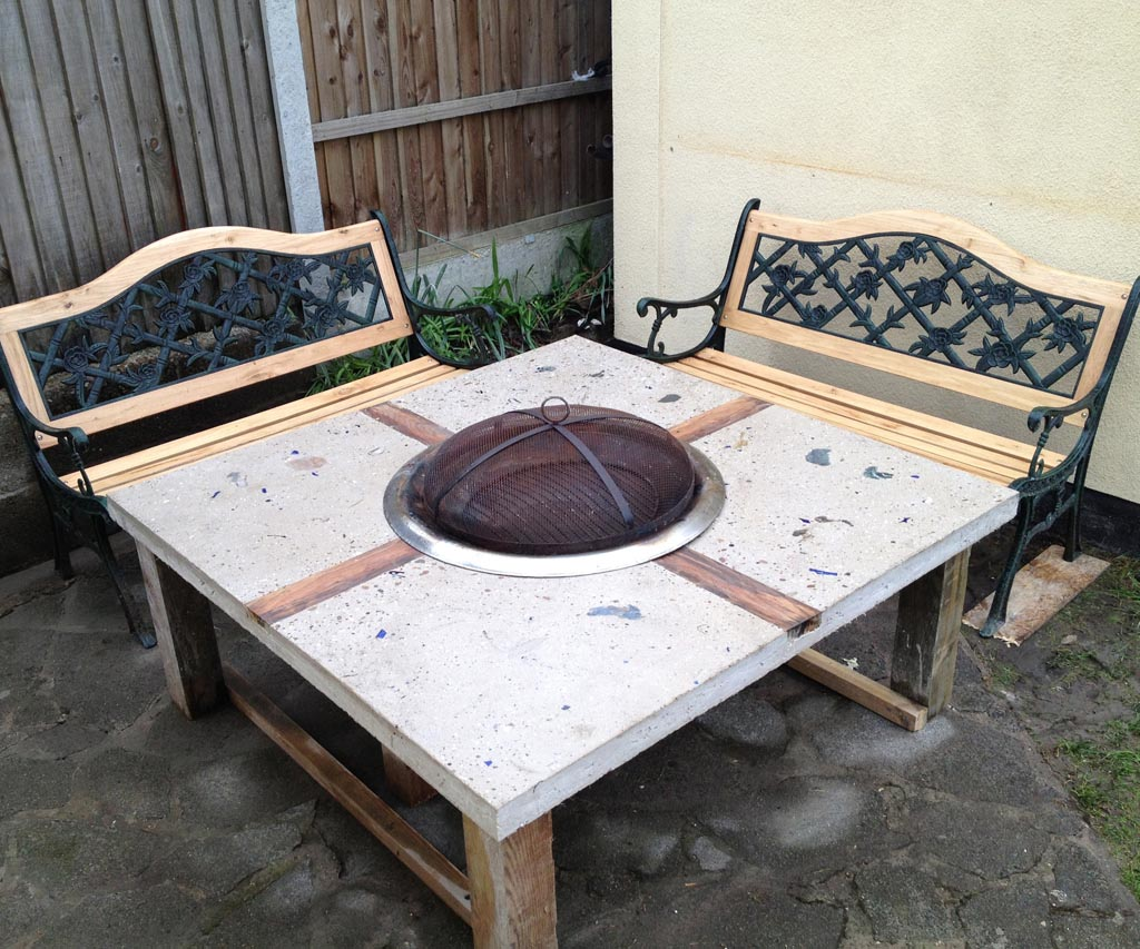 DIY Gas Fire Pit Table Design Ideas