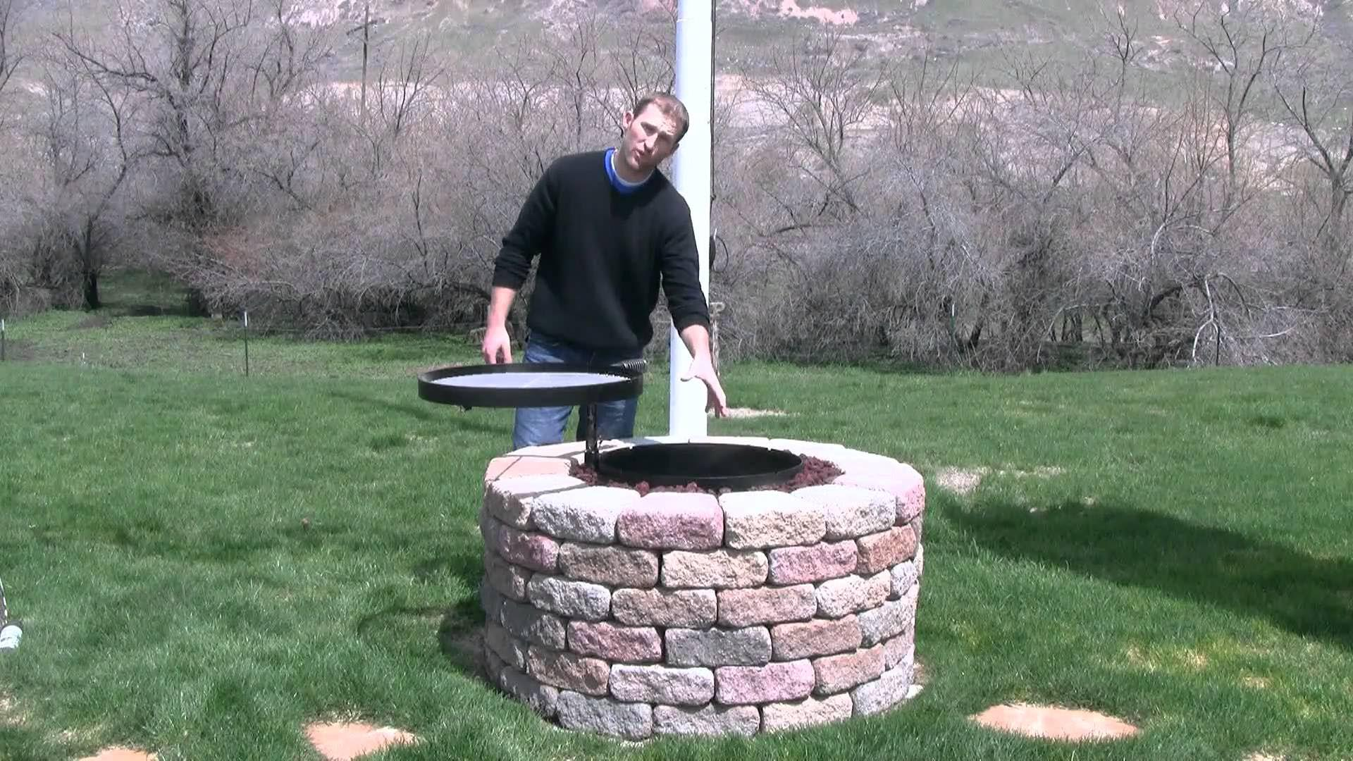 Diy outdoor fire pit grill fire pit design ideas for Easy diy fire pit with grill