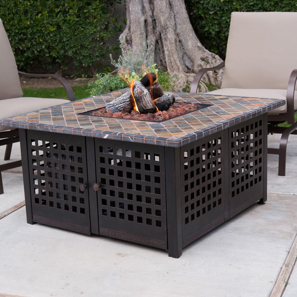 ease way diy fire pit table project diy outdoor fire pit table