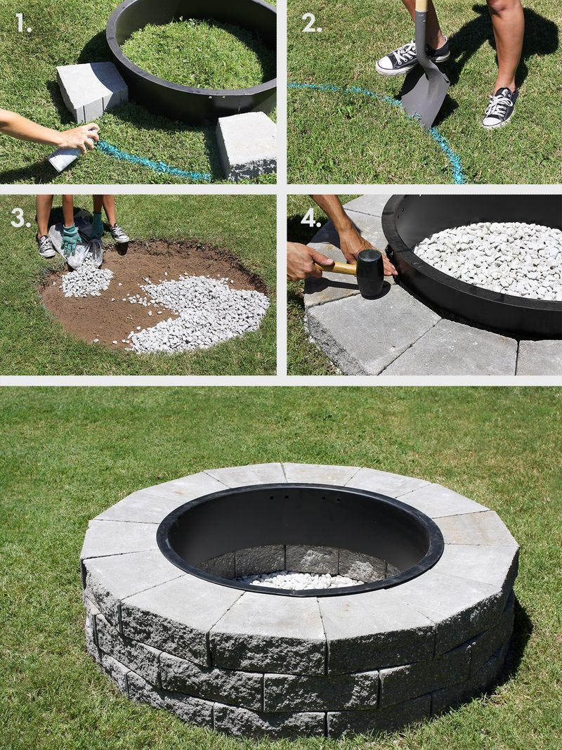Easy DIY Brick Fire Pit