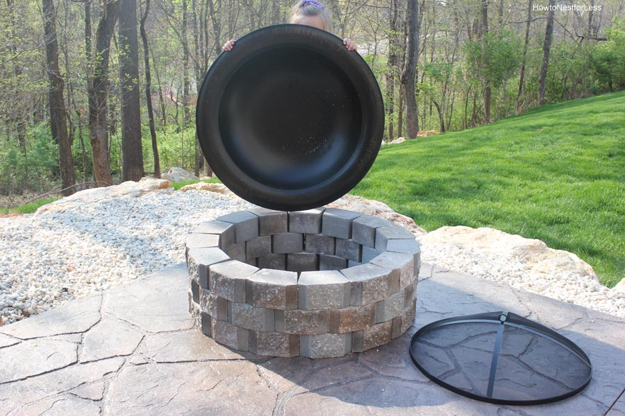 Fire pit bowl insert fire pit design ideas for How to build a fire pit with concrete blocks