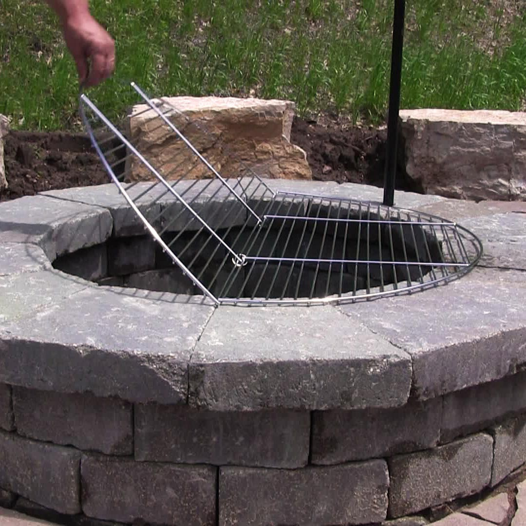 Fire Pit Cooking Grates Large Fire Pit Design Ideas