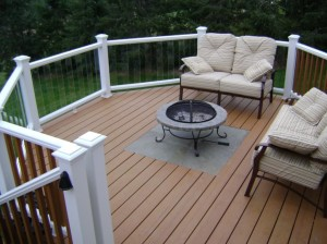 Fire Pit on a Deck