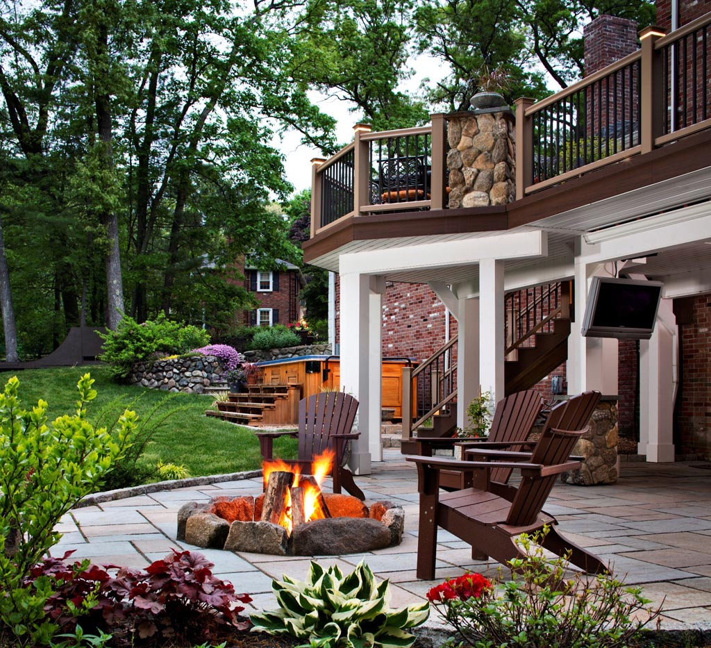 Fire Pit On Wood Deck : Fire Pit Design Ideas