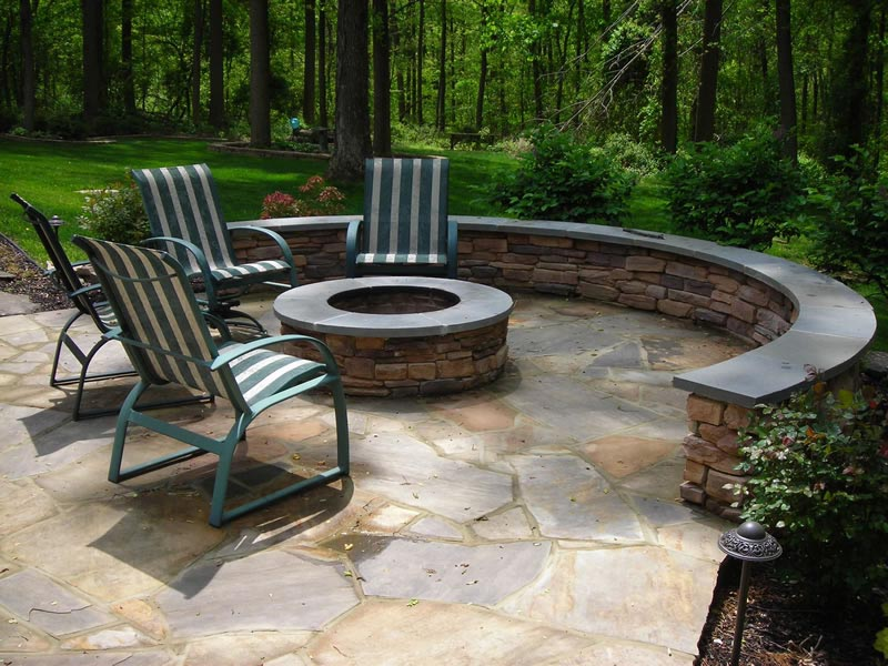 How to build a flagstone fire pit out of a kit fire pit for Best fire pit design