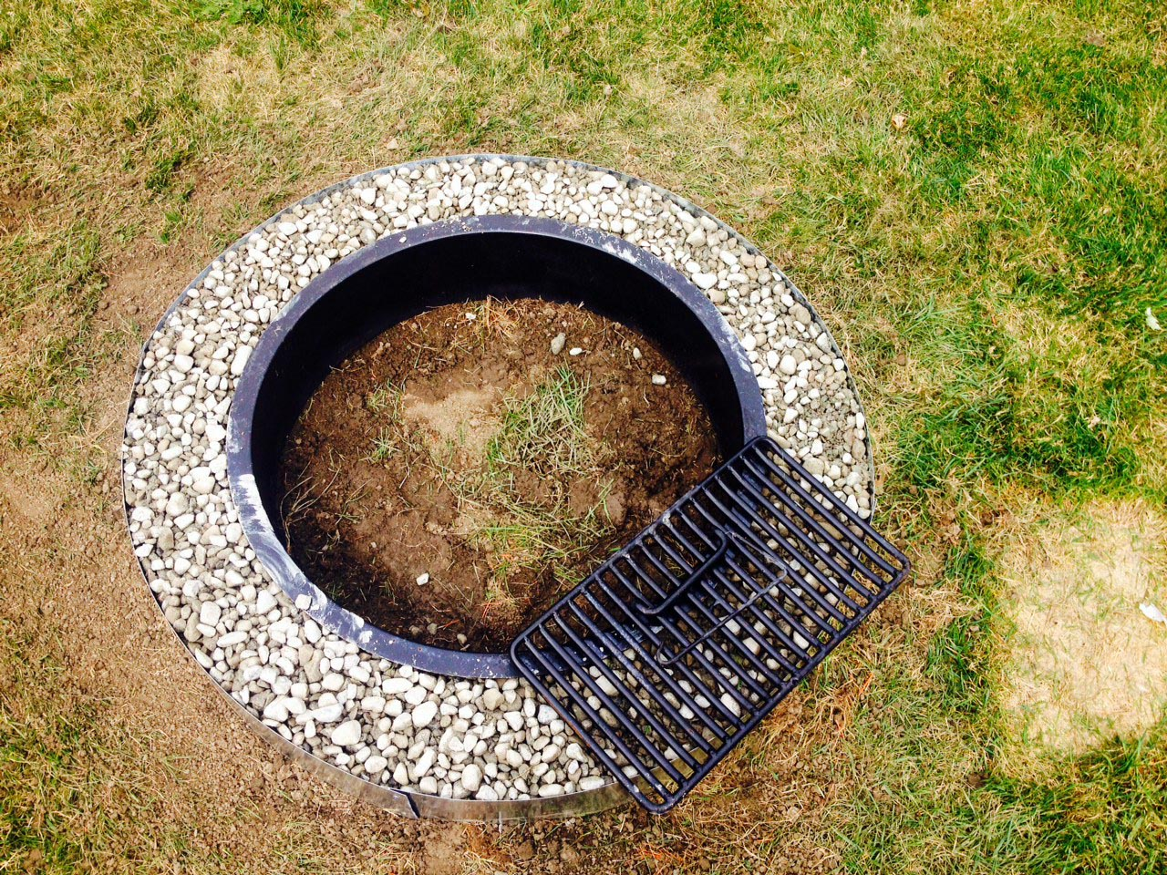 Galvanized Fire Pit Ring 36