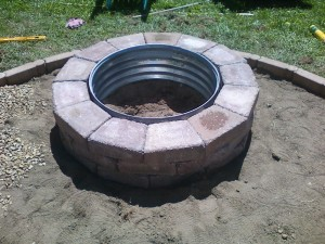 Galvanized Fire Pit Ring 48