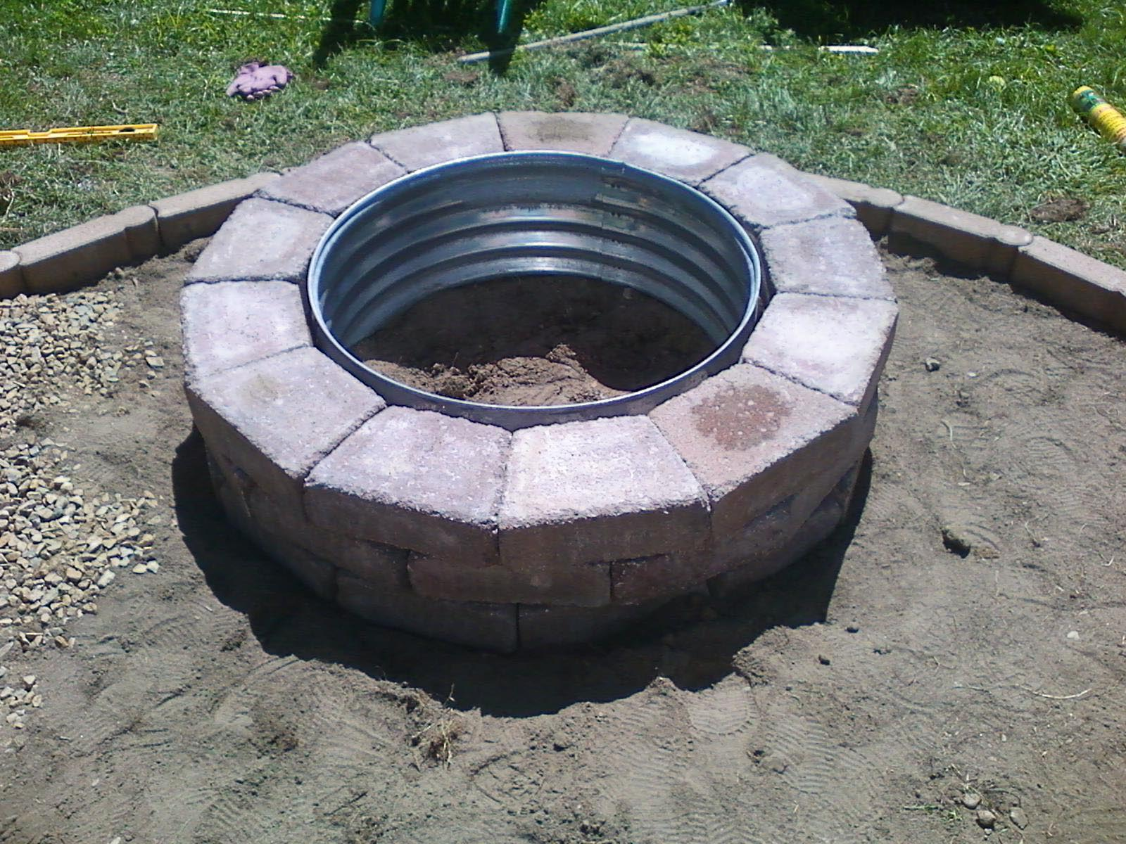 Fire Pit Ring : Galvanized fire pit ring design ideas