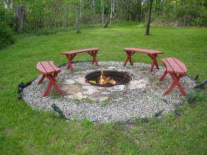 Galvanized Round Fire Pit Ring