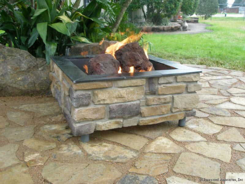 How to build a brick fire pit with gas fire pit design ideas for Brick fire pit construction