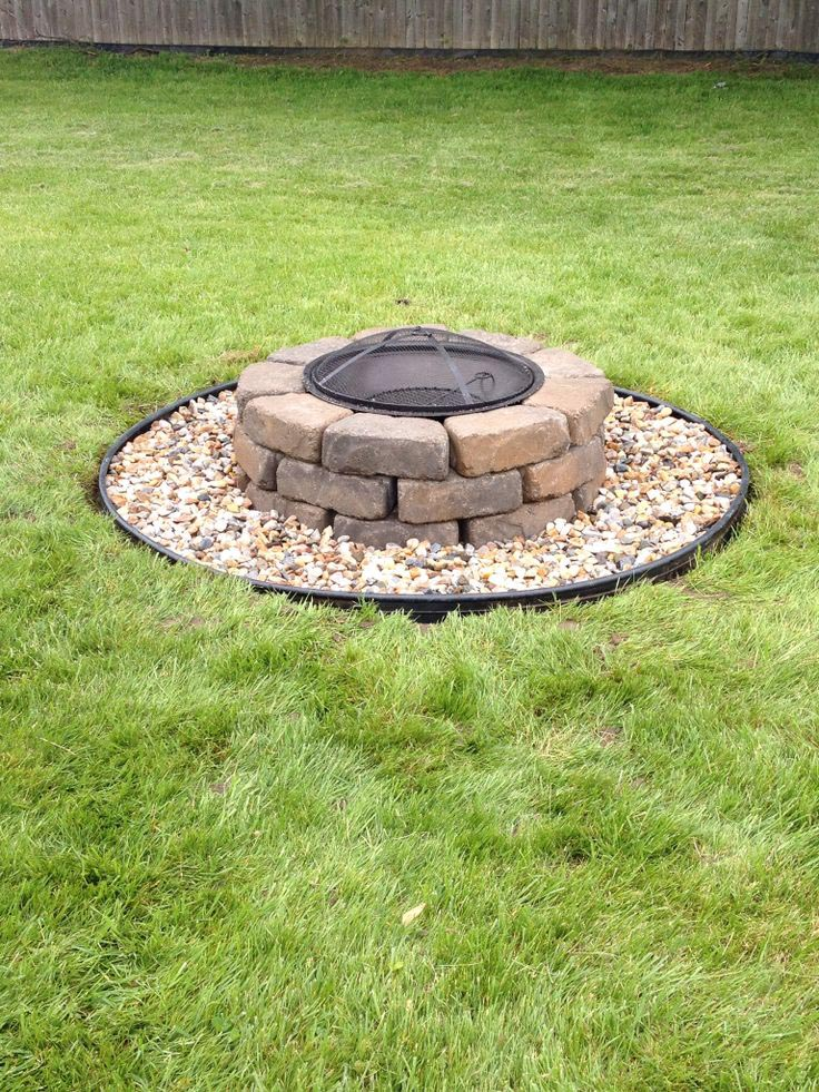How to build a paver fire pit fire pit design ideas for How to build a fire ring with rocks