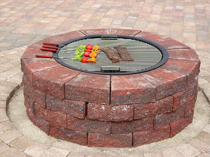 How to build a round brick fire pit fire pit design ideas for Brick fire pit construction