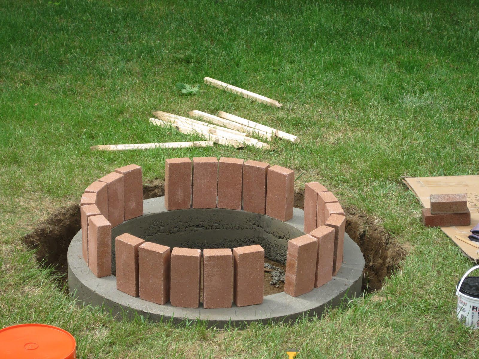 How To Make A Brick Fire Pit In Your Backyard | Fire Pit ...