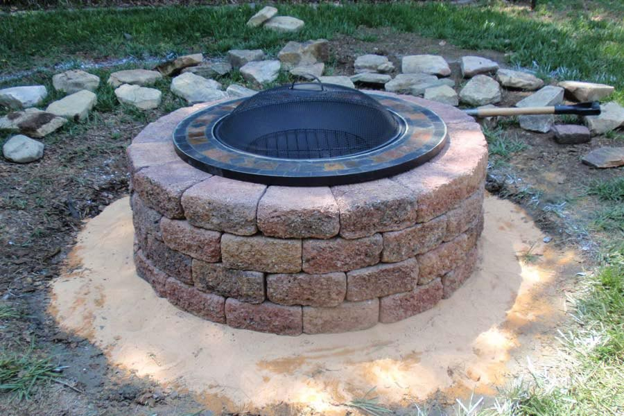 how to make a brick fire pit fire pit design ideas