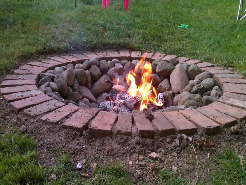diy brick fire pit tutorial fire pit design ideas