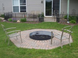 Metal Fire Pit Cover for Round Fire Ring