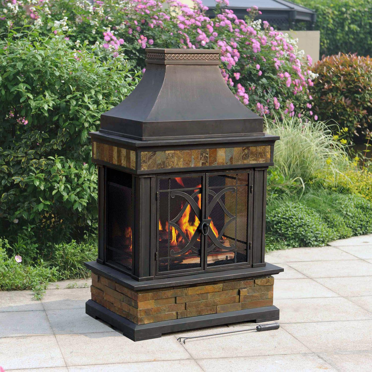 Outdoor Fire Pit Chimney Hood ...