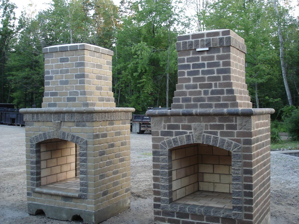 Outdoor fire pit chimney fire pit design ideas for Outside fireplace plans