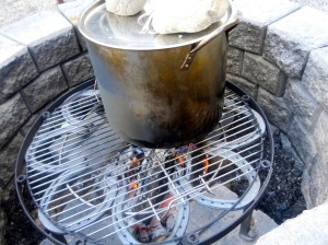 Outdoor Fire Pit Cooking