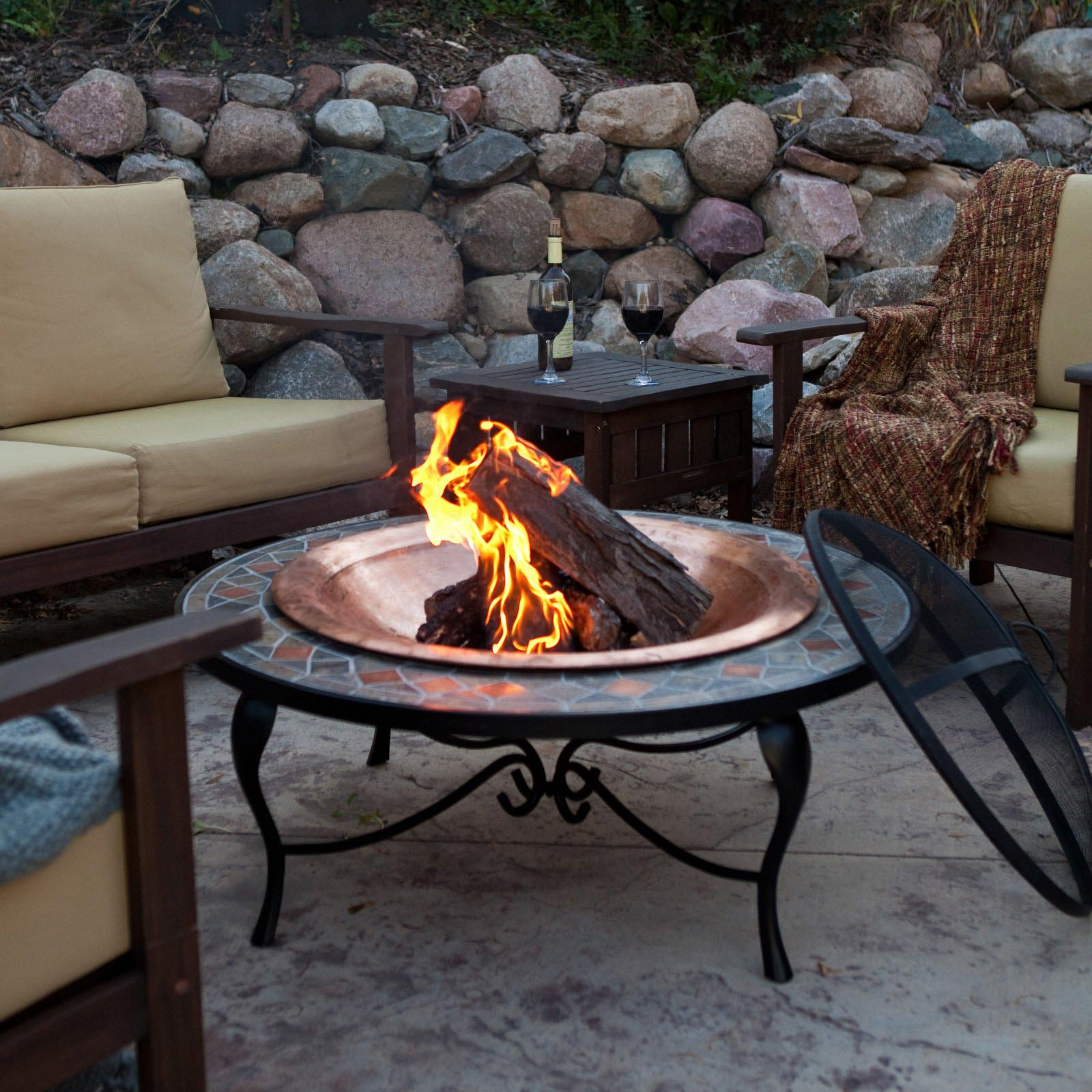 outdoor fire pit portable fire pit design ideas. Black Bedroom Furniture Sets. Home Design Ideas