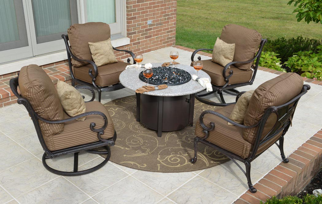 Outdoor Patio Set With Fire Pit Fire Pit Design Ideas