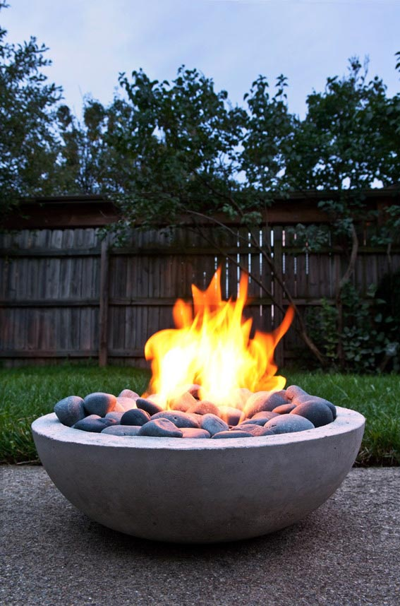 Outdoor Propane Fire Pit DIY
