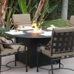 Patio Dining Table with Fire Pit