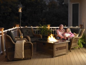 Patio Furniture Fire Pit Table Set