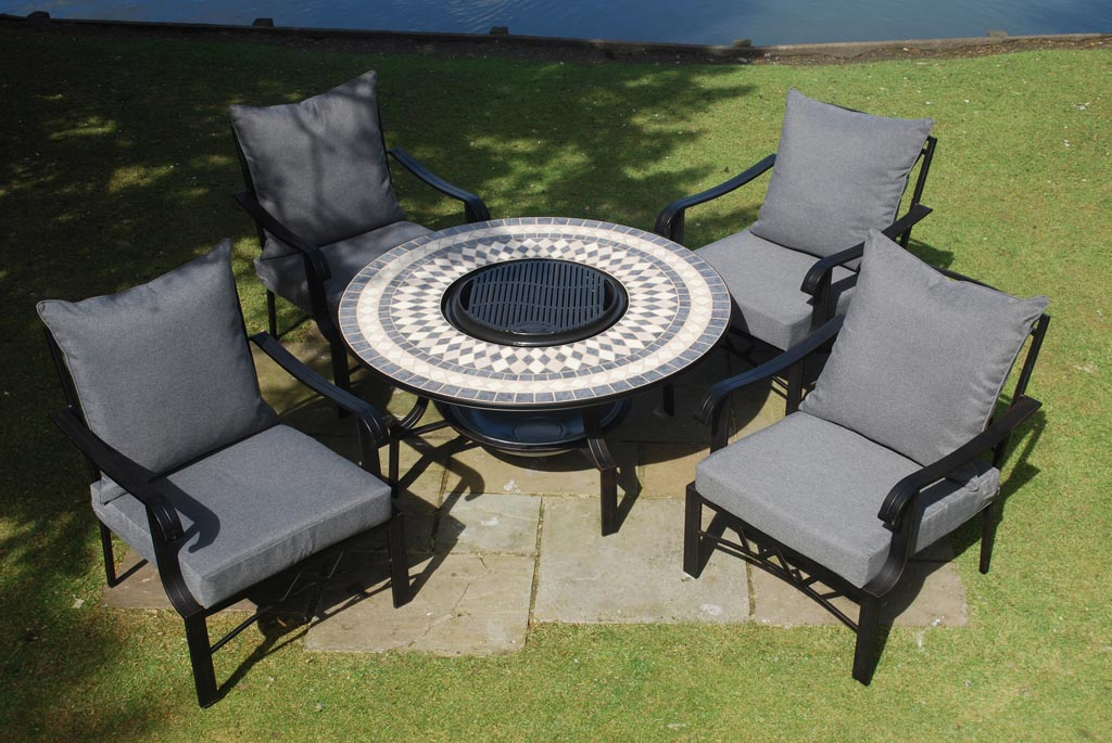 Patio Furniture Set With Fire Pit Fire Pit Design Ideas