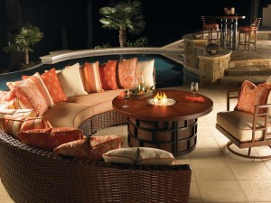 Patio Set with Gas Fire Pit