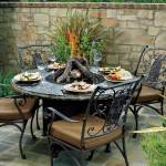 Patio Table with Fire Pit in Middle