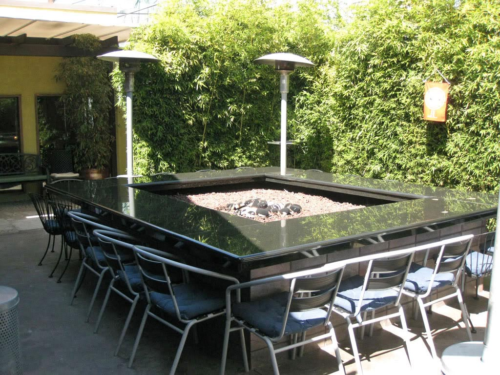 Patio Table With Fire Pit Design Ideas