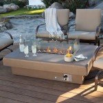Patio Table with Gas Fire Pit
