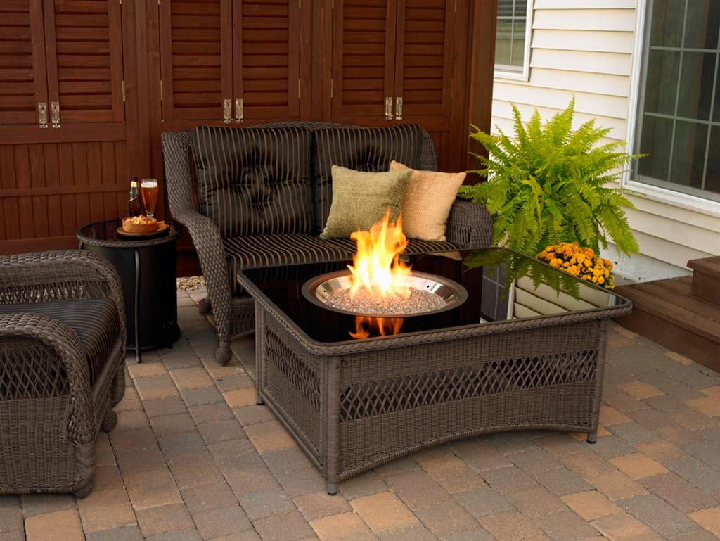 patio table with propane fire pit fire pit design ideas