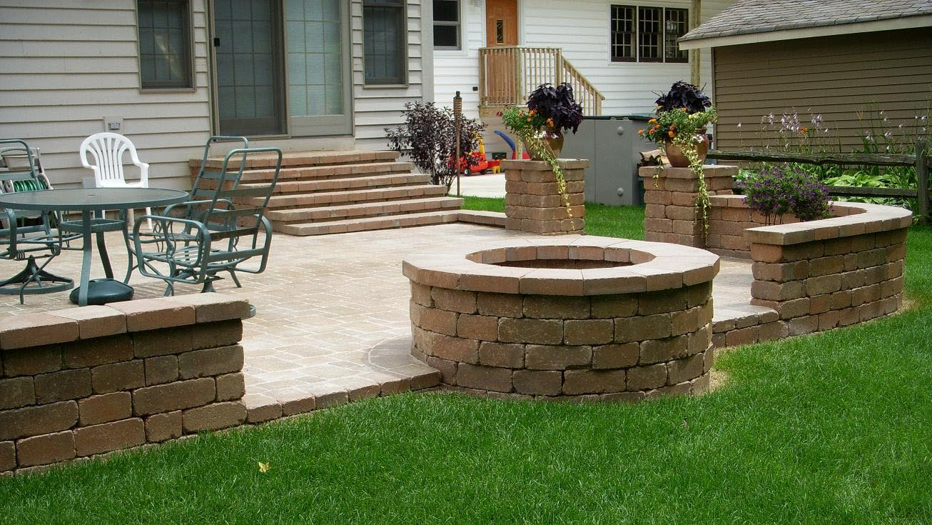 Paver Patio Fire Pit Ideas | Fire Pit Design Ideas