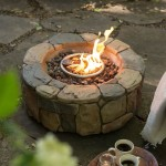 Propane Fire Pit with Glass Rocks