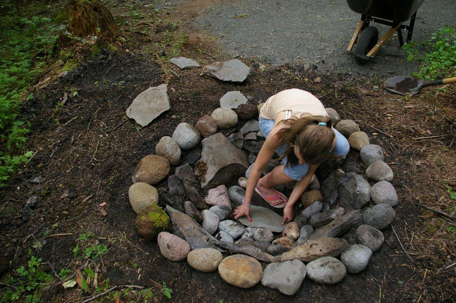 How To Build Fire Pit With River Rock